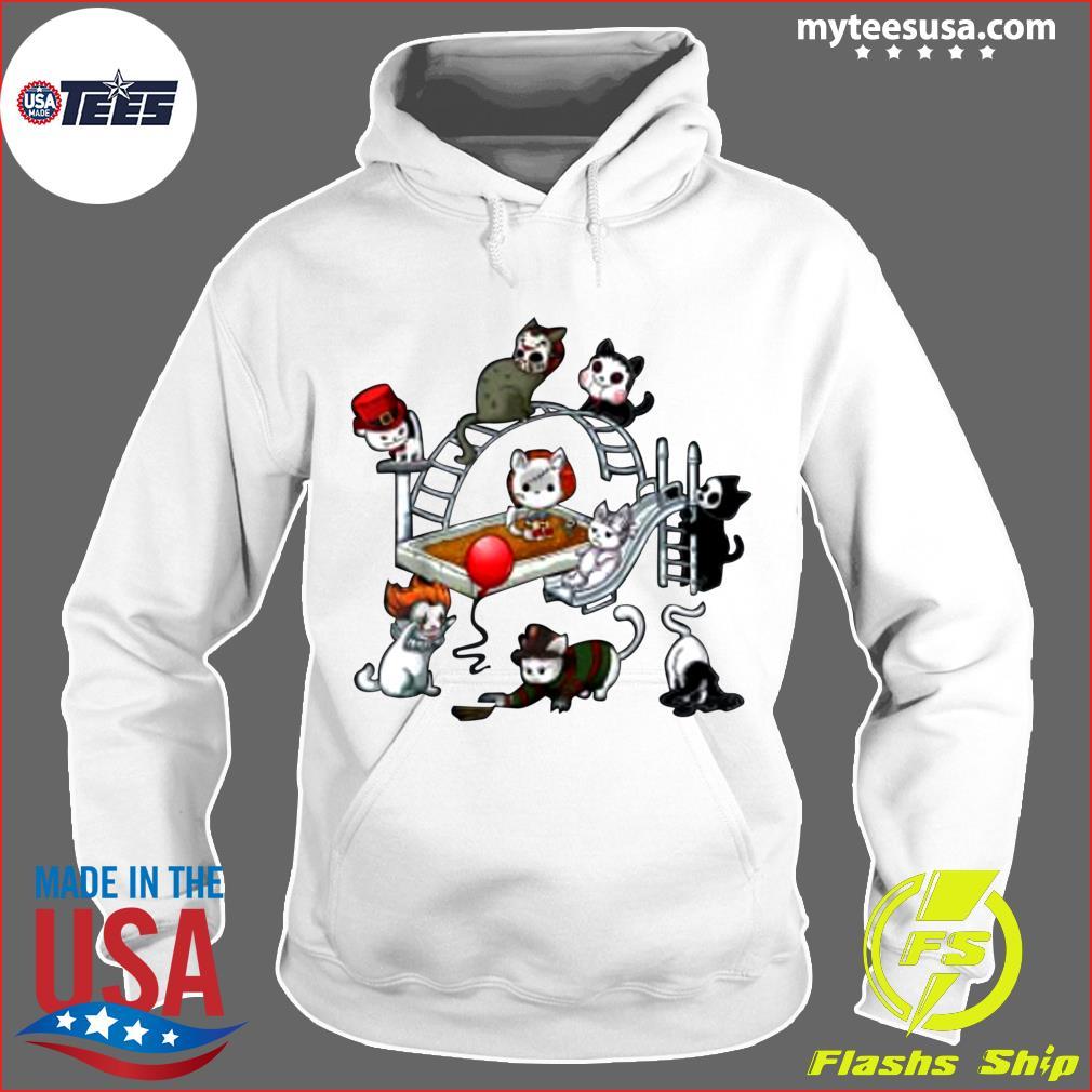 Horror Movies Cat Funny Halloween Costume Gift Kids T-Shirt Hoodie