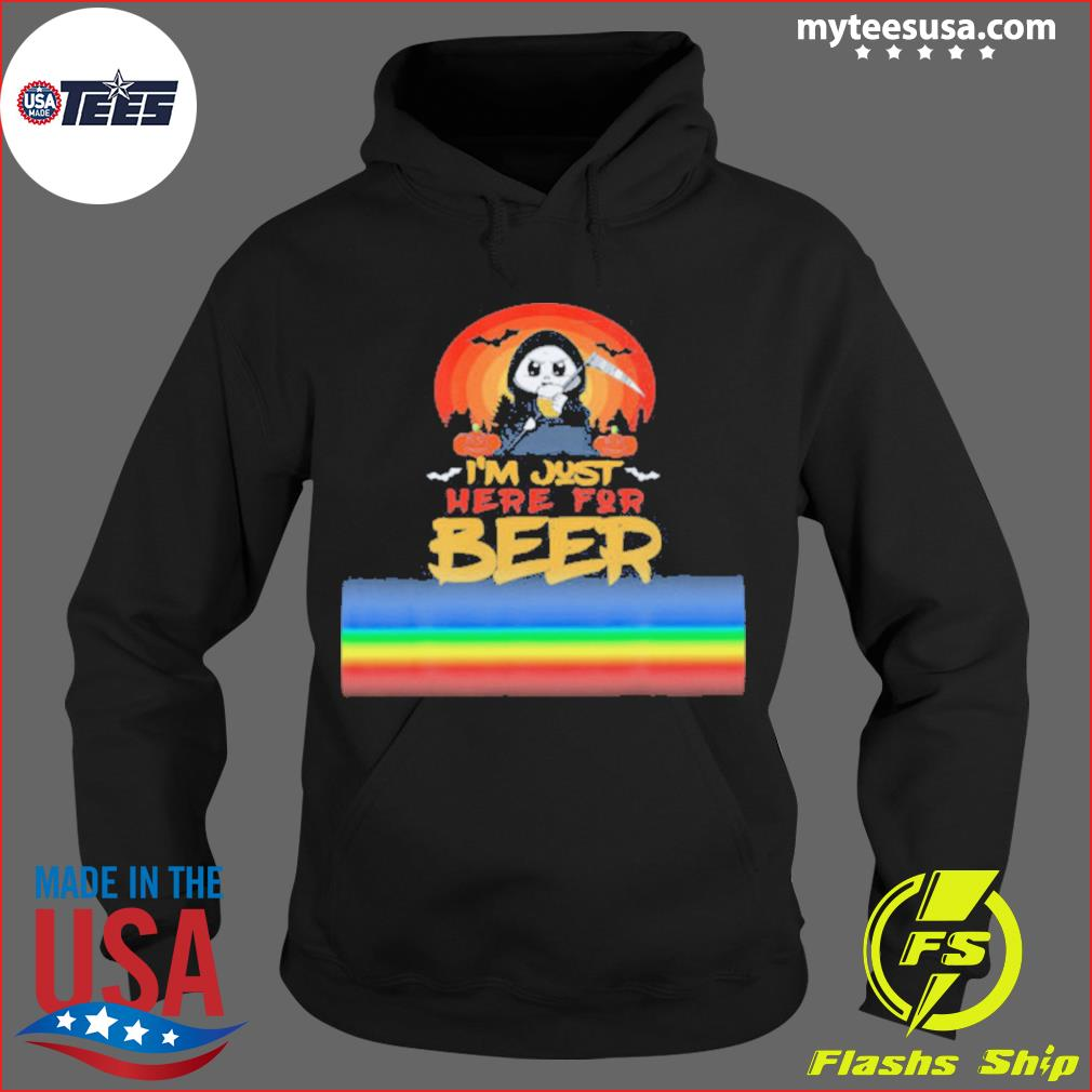 I'm Just Here For Beer Halloween Halo Funny Ghost s Hoodie
