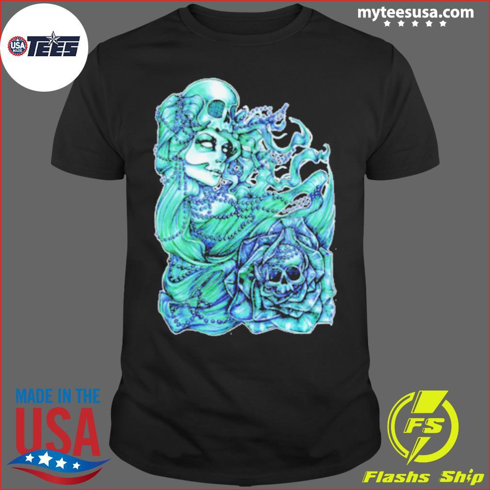 Mermaid Of The Dead Sugar Skull Day Dead Dia De Los Muertos shirt