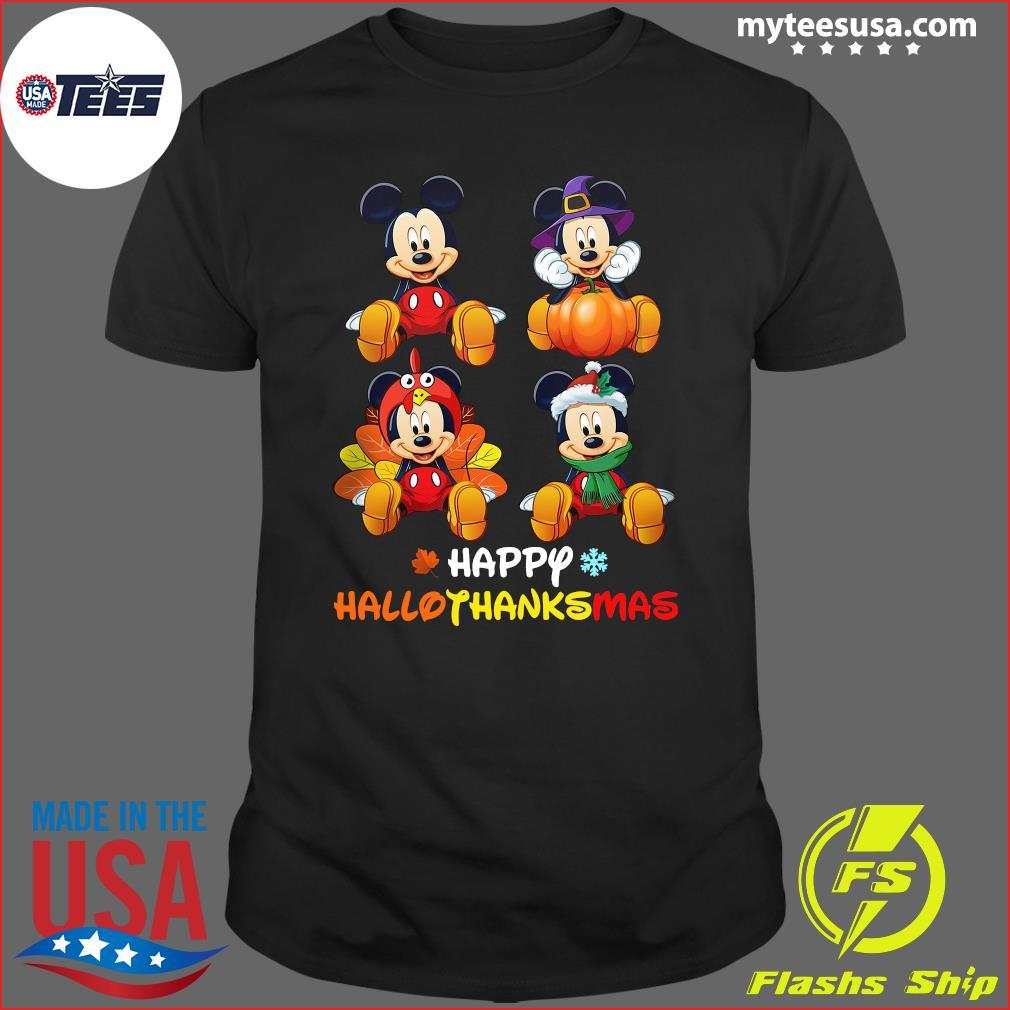 Mickey Mouse Happy Hallothanksmas T-Shirt