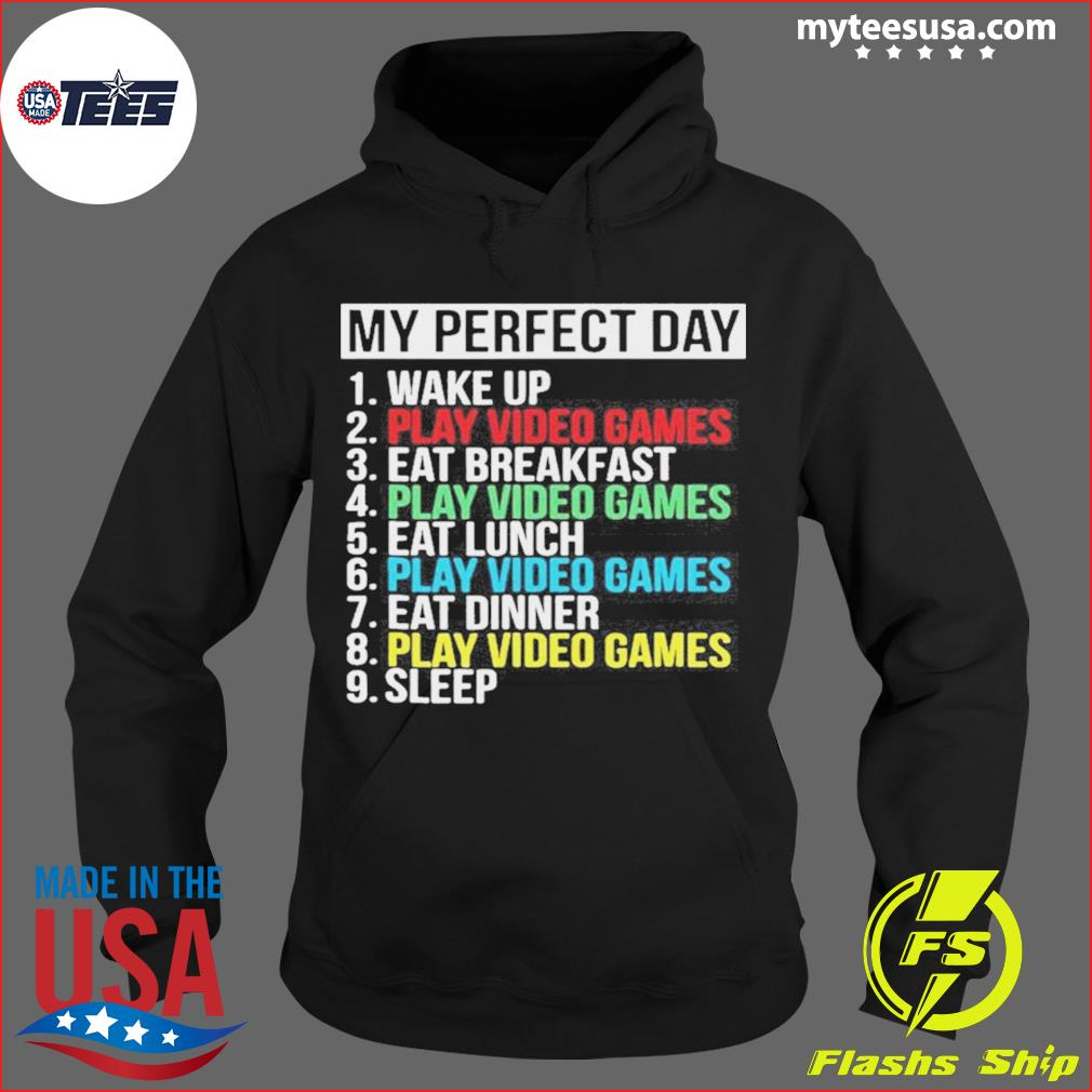 My Perfect Day Play Video Games Vintage s Hoodie
