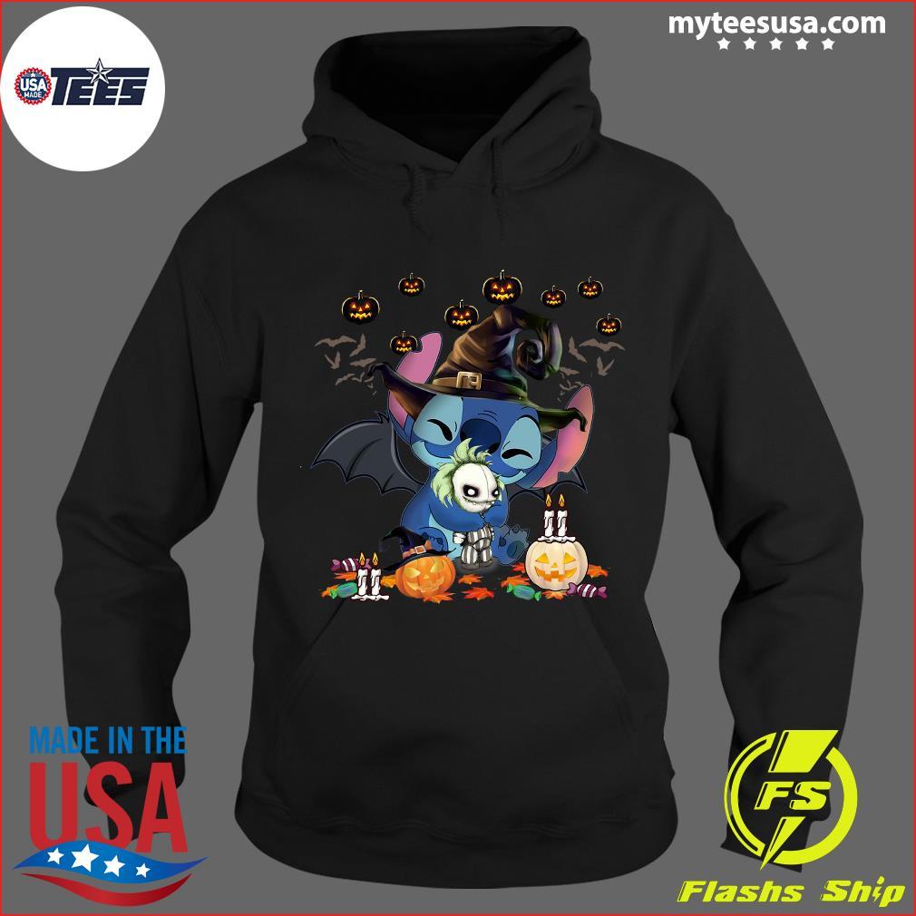 Nightmare Stitch Witch Hug Jack Skellington Halloween T-Shirt Hoodie