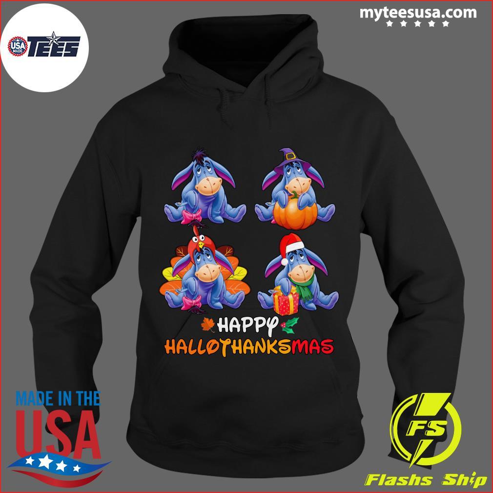 Official Eeyore Happy Hallothanksmas T-Shirt Hoodie