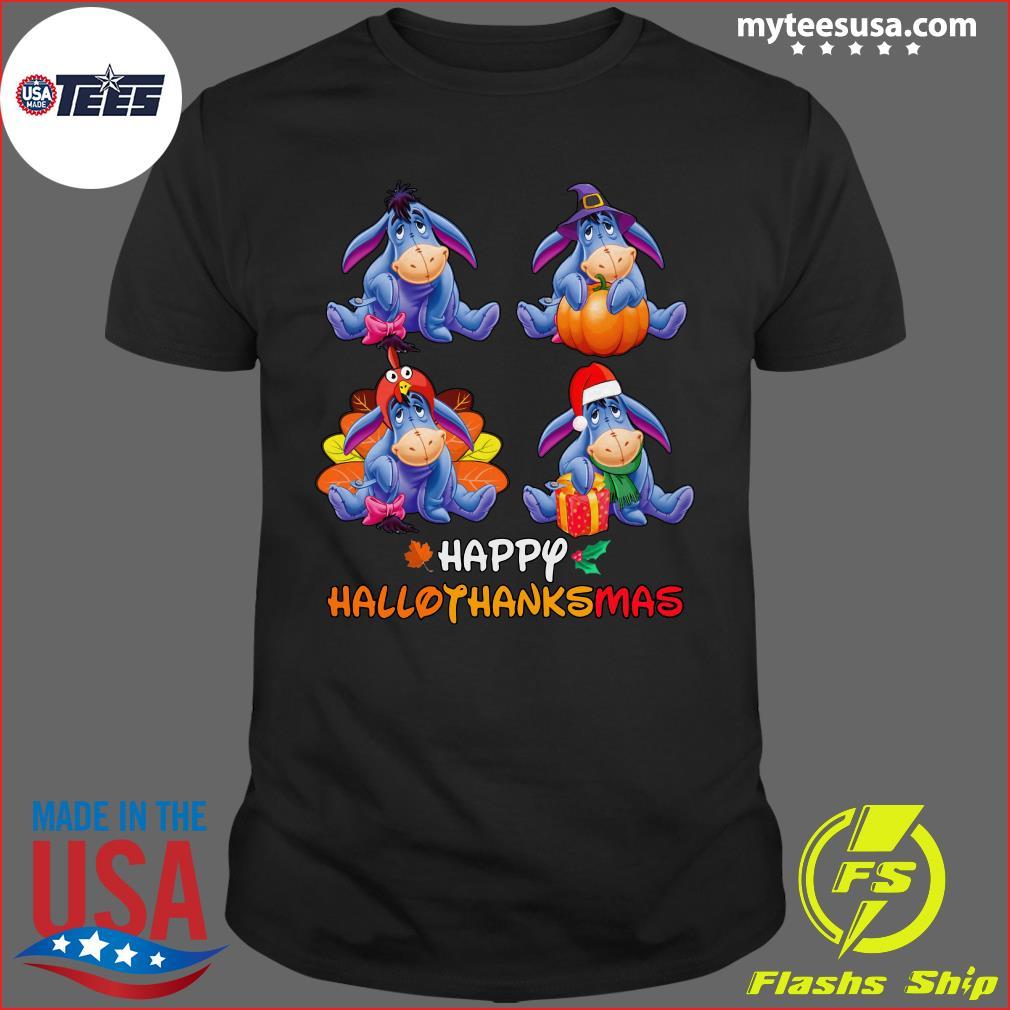 Official Eeyore Happy Hallothanksmas T-Shirt