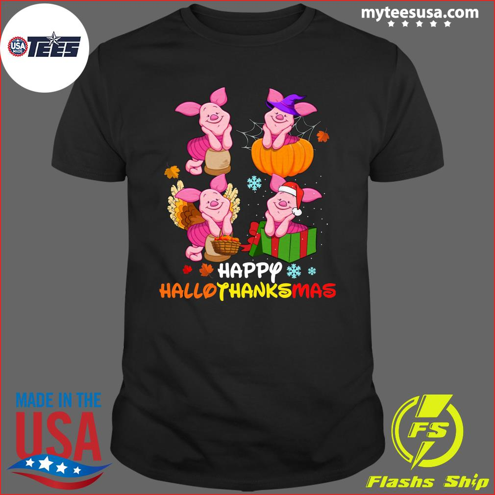 Piglets Happy Hallothanksmas T-Shirt