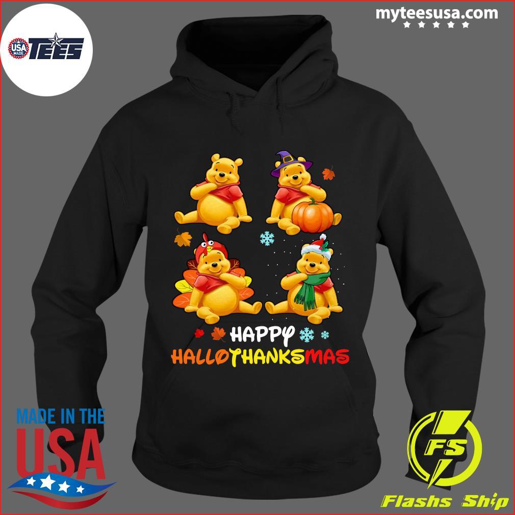 Pooh Bear Happy Hallothanksmas T-Shirt Hoodie