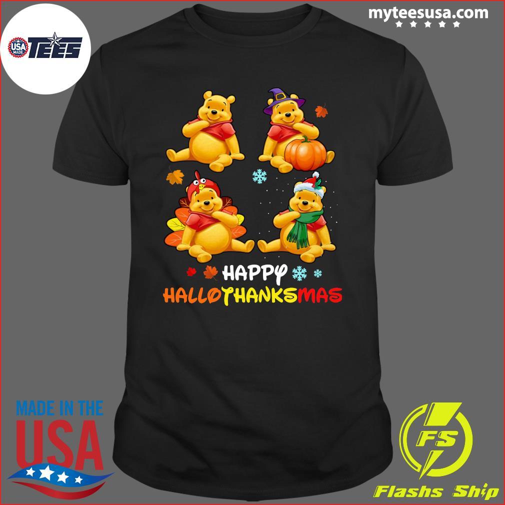 Pooh Bear Happy Hallothanksmas T-Shirt