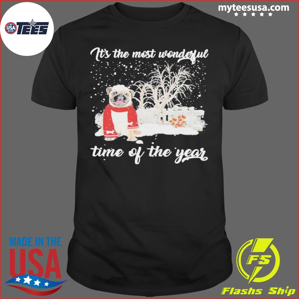 Pug Its The Most Wonderful Time Of The Year Halloween Shirt