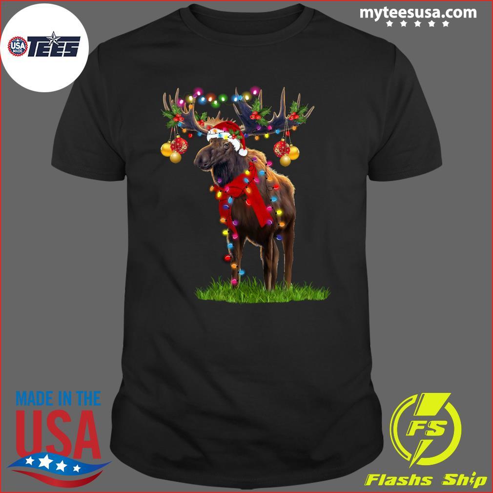 Reindeer Merry Christmas Light T-Shirt