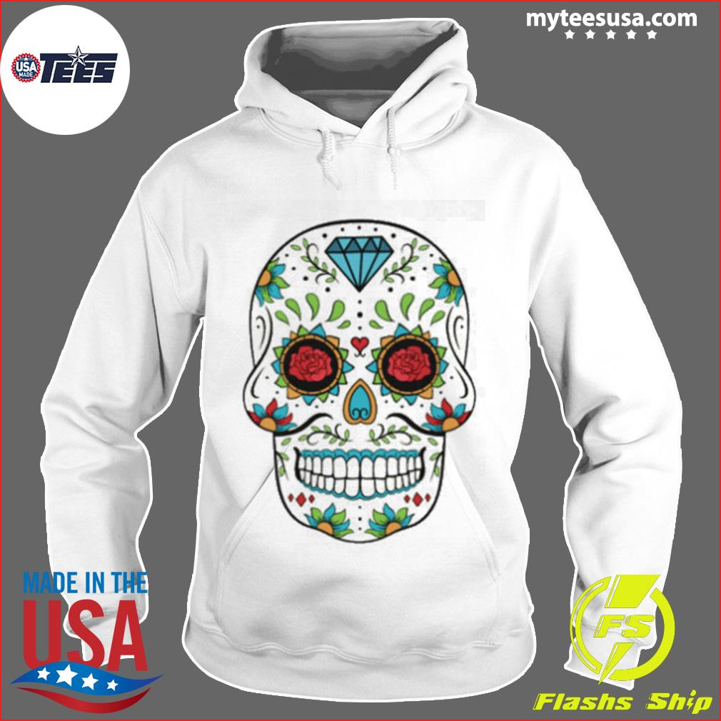 Rose Sugar Skull In Mexican s Hoodie