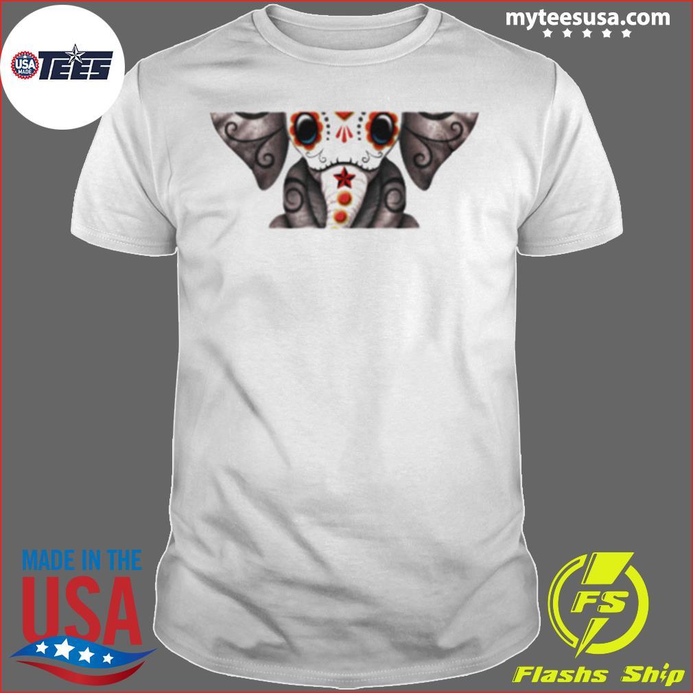 Skull Elephant Day Of Dead Dia De Los Muertos shirt