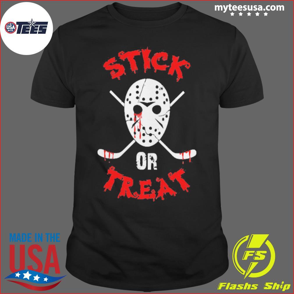 Stick Or Treat Hockey Halloween shirt