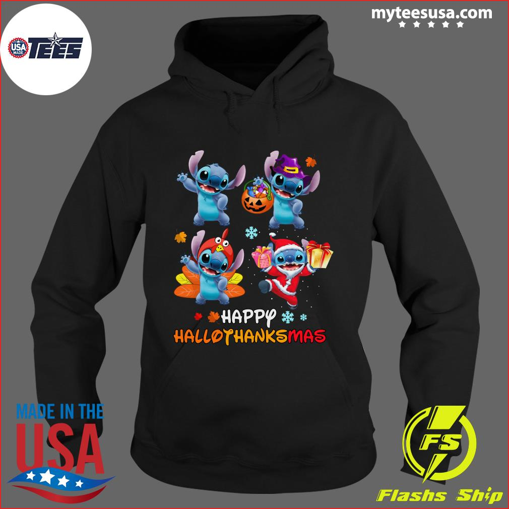 Stitch Happy Hallothanksmas T-Shirt Hoodie