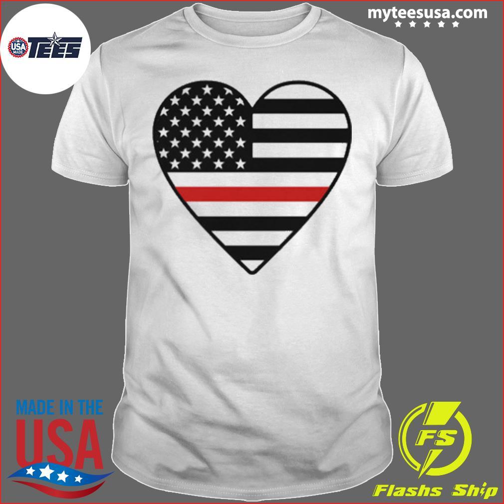 Heart American flag shirt